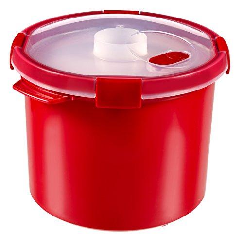 CURVER 232575 Dampfgarer 2 in 1 Kunststoff rot 22 x 22 x